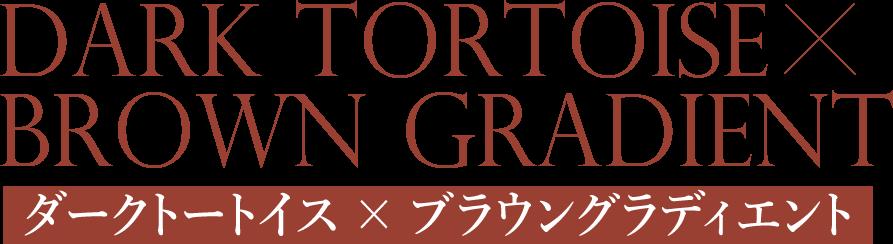 ダークトートイス × ブラウングラディエント