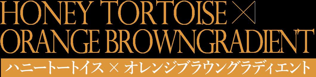 ハニートートイス × オレンジブラウングラディエント